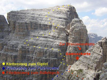 Klettersteig Paternkofel : Paternkofel klettersteige bergtouren sexten dolomiten